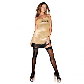 Клубное платье с надписью HUSTLER на груди